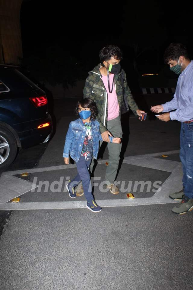Riteish with son Riaan