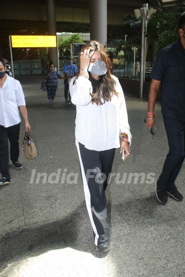 Ekta Kapoor snapped at airport returning from Goa
