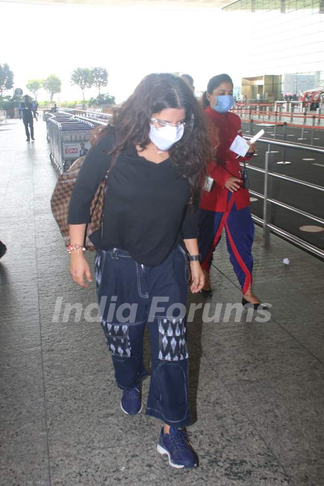 Zoya Akhtar snapped at airport