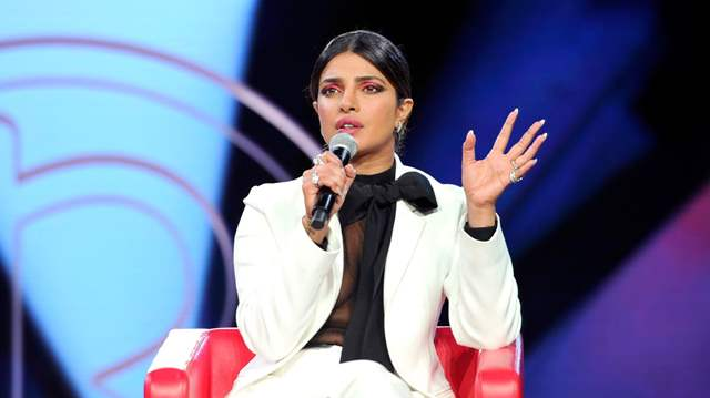 Priyanka Chopra speaking