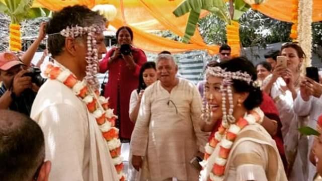 Milind Soman and wife Ankita Konwar