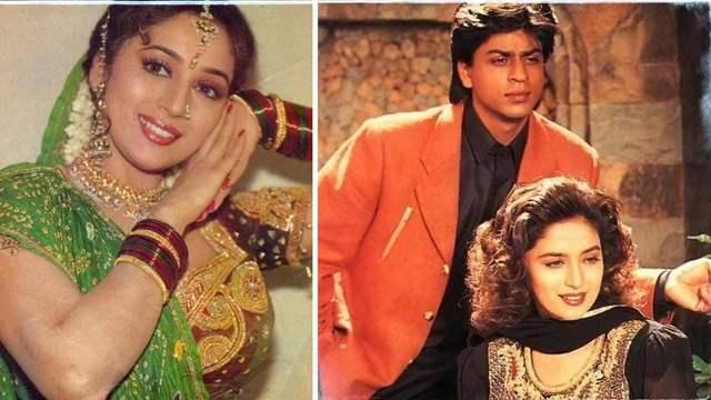 Shah Rukh Khan and Deepak Tijori Madhuri Dixit Anjaam