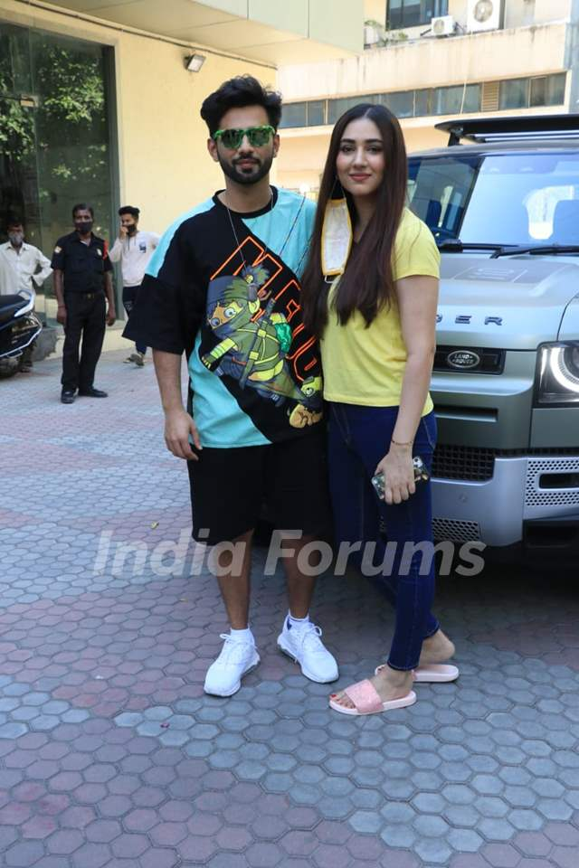 Rahul Vaidya and Disha Parmar snapped at Andheri