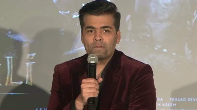 Karan Johar speaking