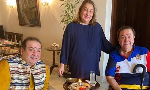 Rajiv Kapoor, Rima Kapoor and Rishi Kapoor