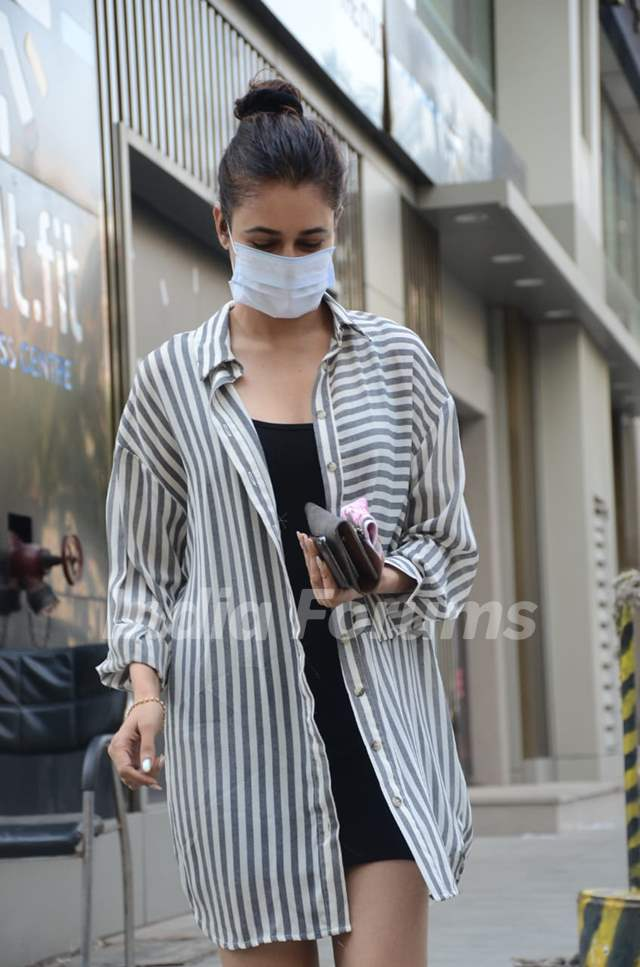 Yuvika Chaudhary spotted at a clinic in Andheri