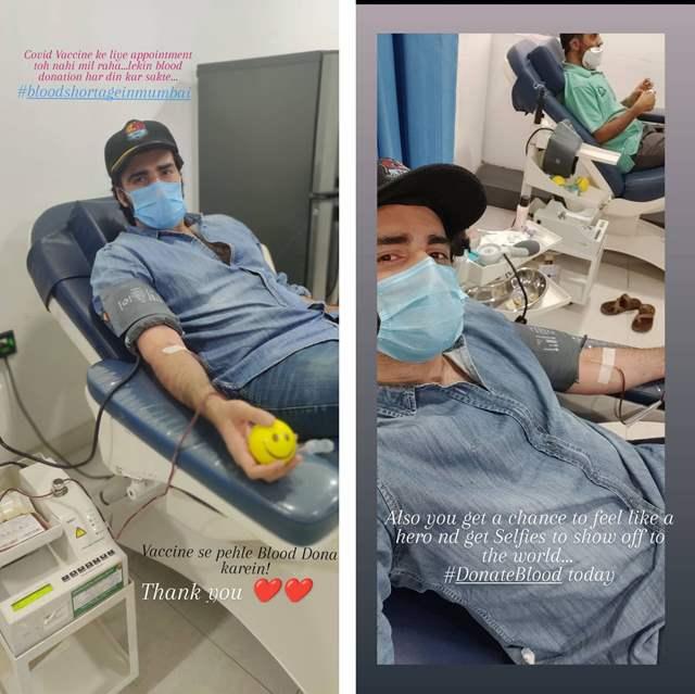 Avinash Tiwary donates blood