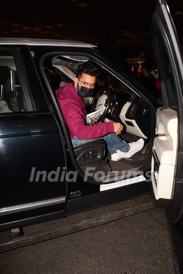Rahul Vaidya snapped at Mumbai Airport