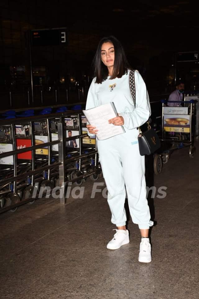 Sana Makbul spotted at the Mumbai airport