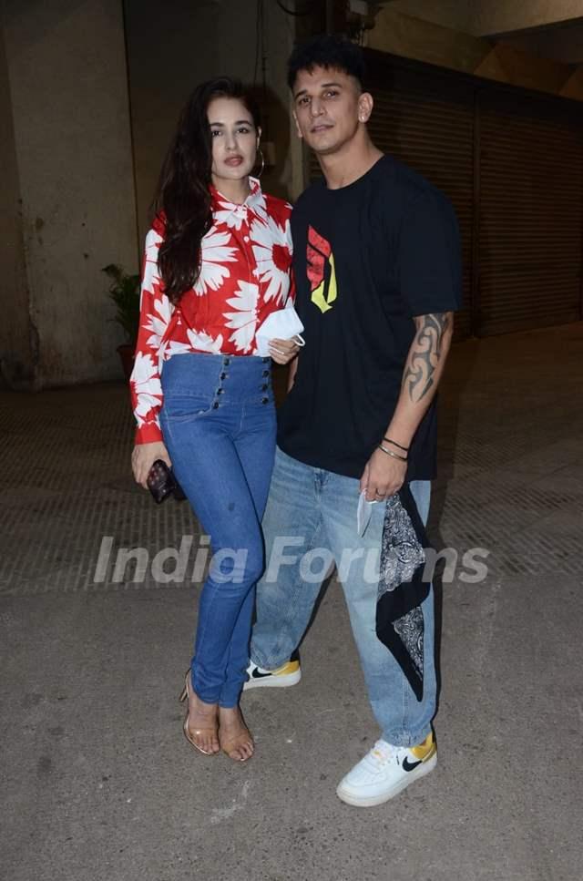 Prince Narula and Yuvika Chaudhary spotted at Andheri, Mumbai