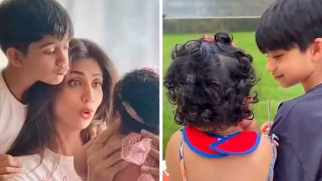 Shilpa Shetty kids Samisha and Viaan