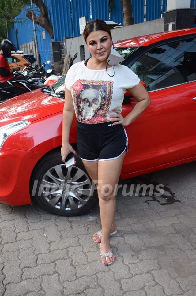 Rakhi Sawant spotted in Andheri