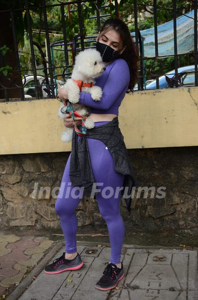 Shivaleeka Oberoi spotted in Andheri