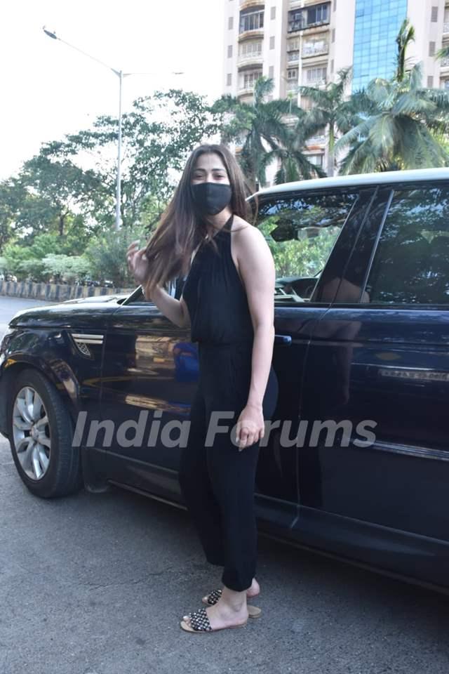 Raai Laxmi snapped in Versova