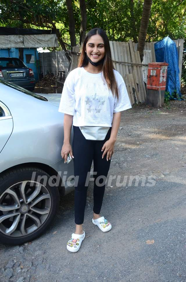Krystle D'Souza snapped in Versova