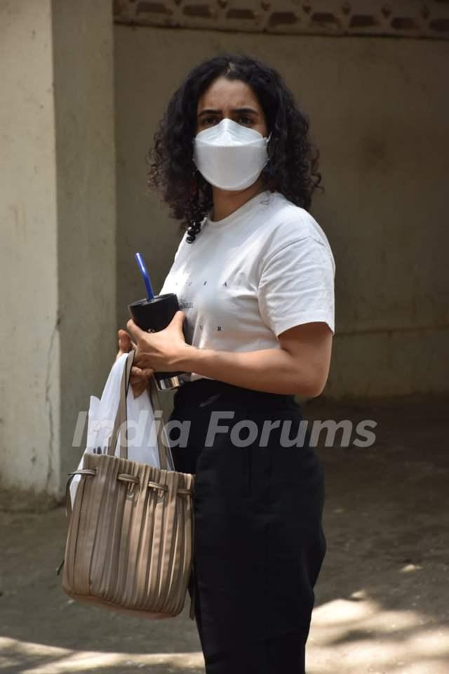 Sanya Malhotra snapped in Juhu