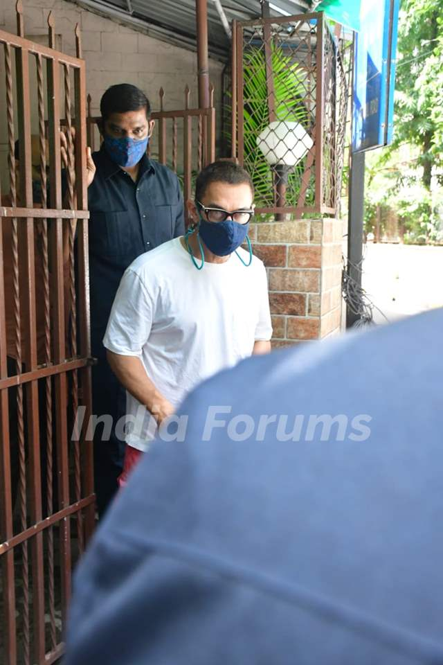 Aamir Khan spotted at a dubbing studio
