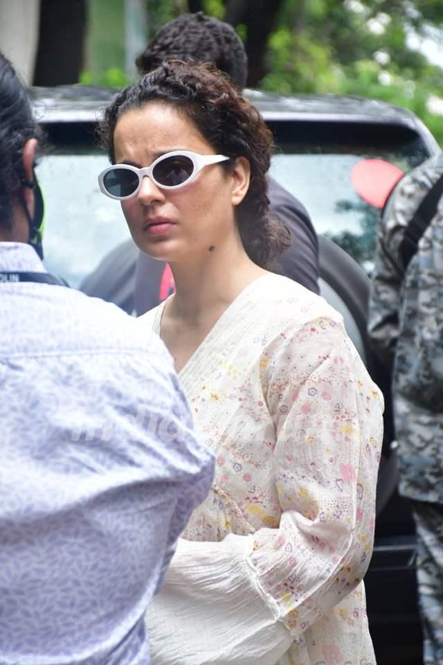 Kangana Ranaut snapped at her office in Juhu