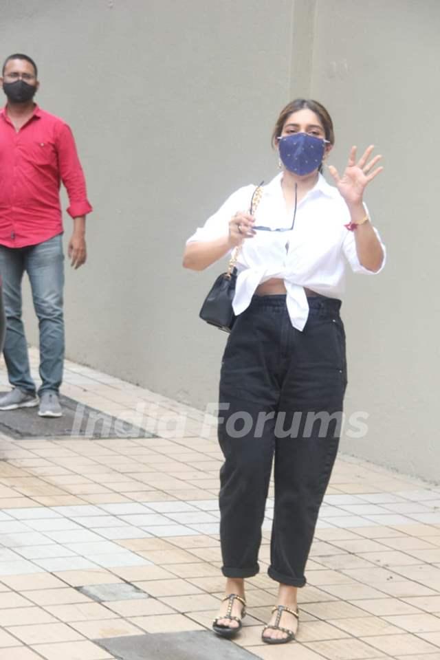 Bhumi Pednekar snapped in Bandra