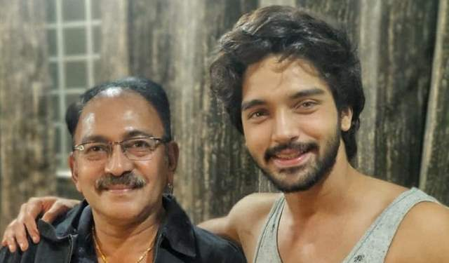 Harsh Rajput with his father