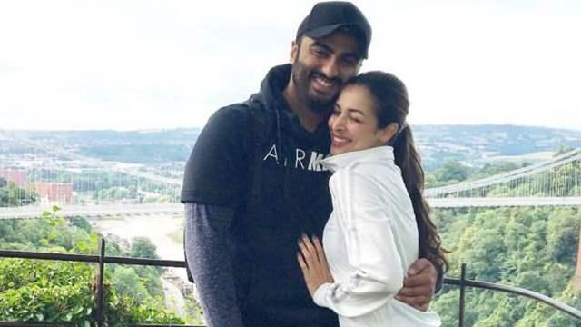 Malaika Arora hugs boyfriend Arjun Kapoor