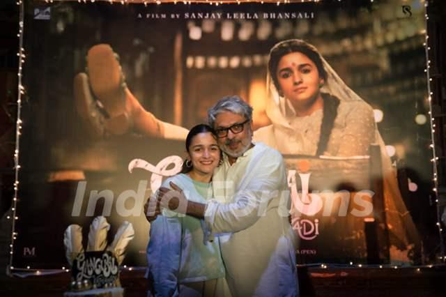 Alia Bhatt and Sanjay Leela Bhansali share a warm hug after completing Gangubai Kathiawadi shoot