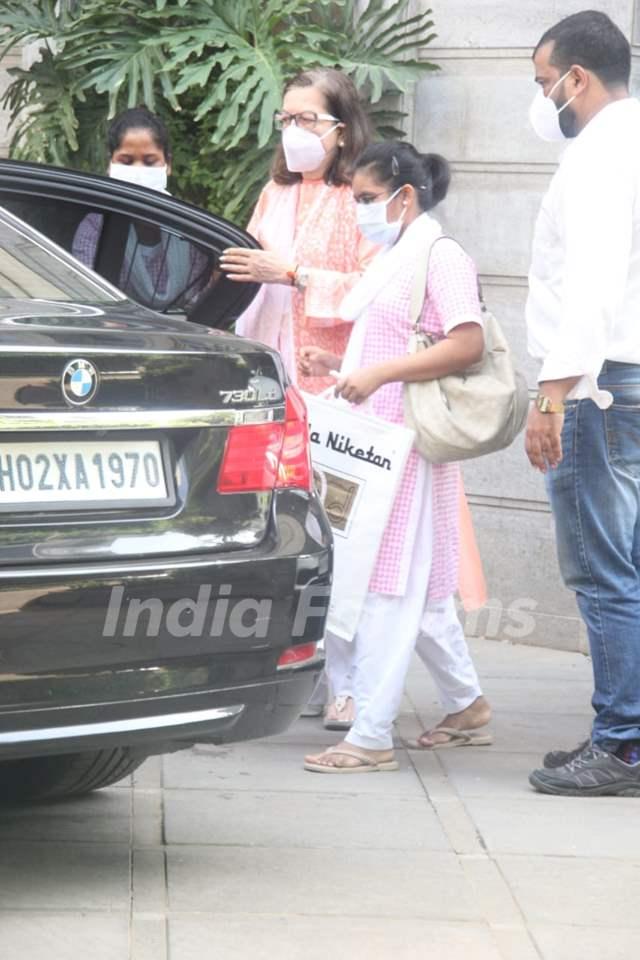 Babita Kapoor snapped in Bandra