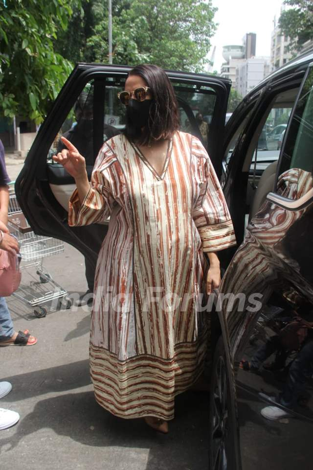 Mommy-to-be Neha Dhupia snapped around the town