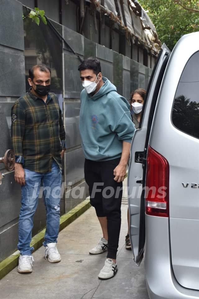 Akshay Kumar snapped at the promotions of Bell Bottom