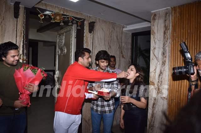Sonu Nigam snapped celebrating his birthday
