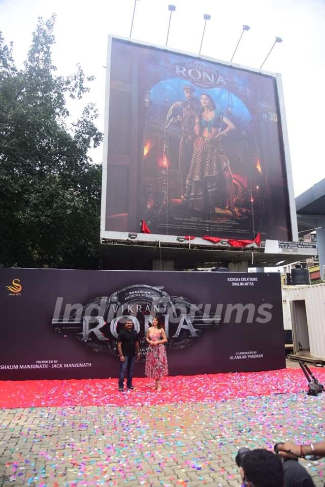 Jacqueline Fernandez unveils her look from Vikrant Rana on billboard in Mumbai