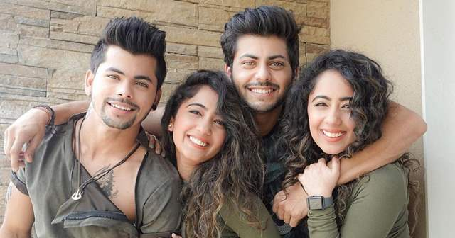 Siddharth, Abhishek, Surbhi and Samriddhi