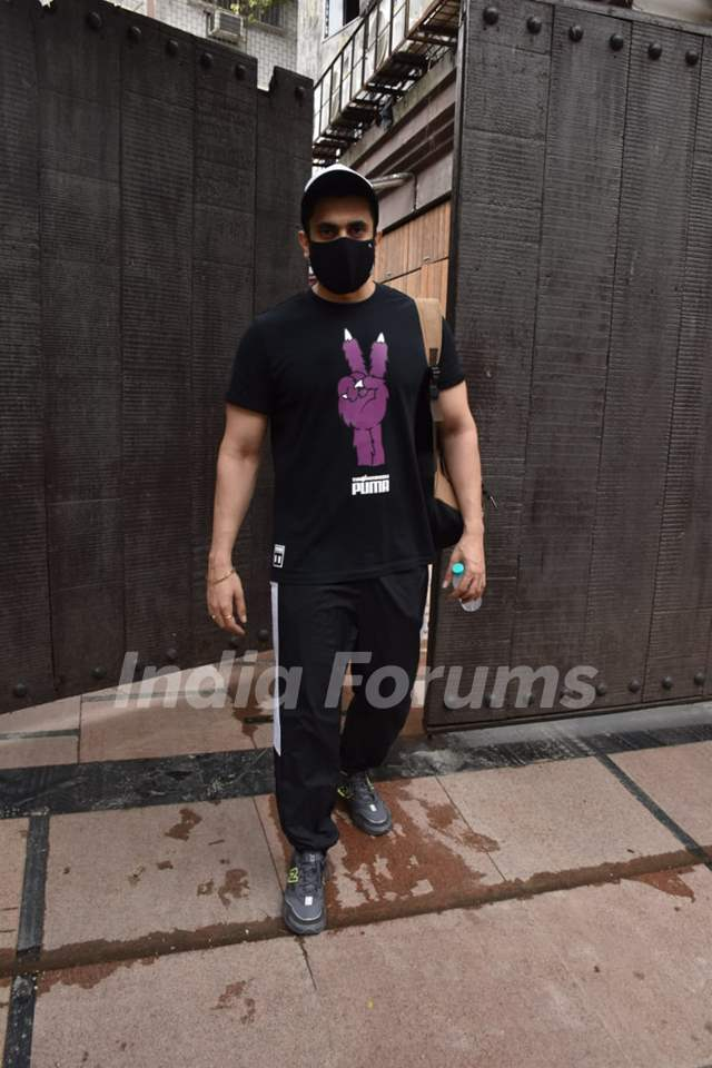 Sunny Singh snapped outside gym