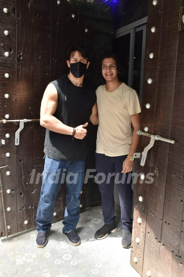 Tiger Shroff snapped at dubbing studio