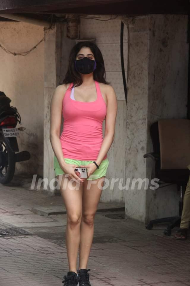 Janhvi Kapoor snapped at Pilates