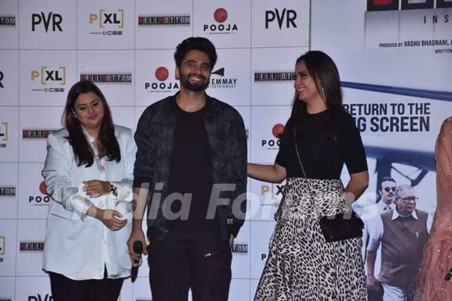 Jackky Bhagnani and Lara Dutta at Bell Bottom trailer launch in Delhi