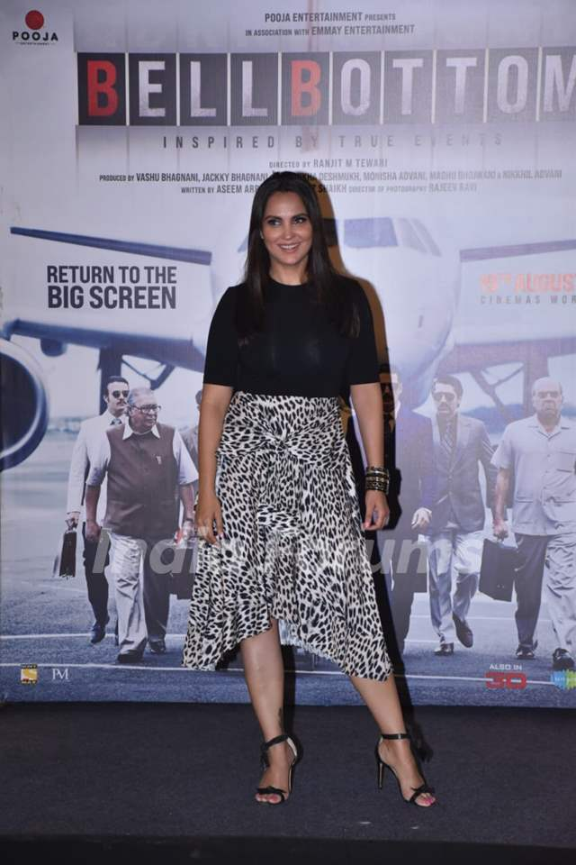Lara Dutta at Bell Bottom trailer launch in Delhi