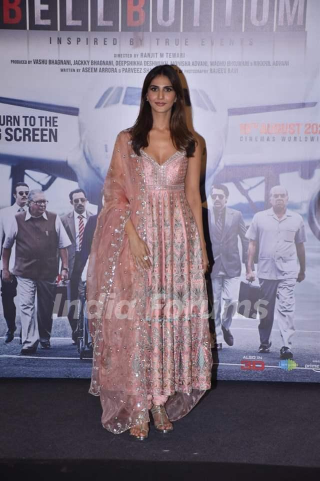 Vaani Kapoor at Bell Bottom trailer launch in Delhi