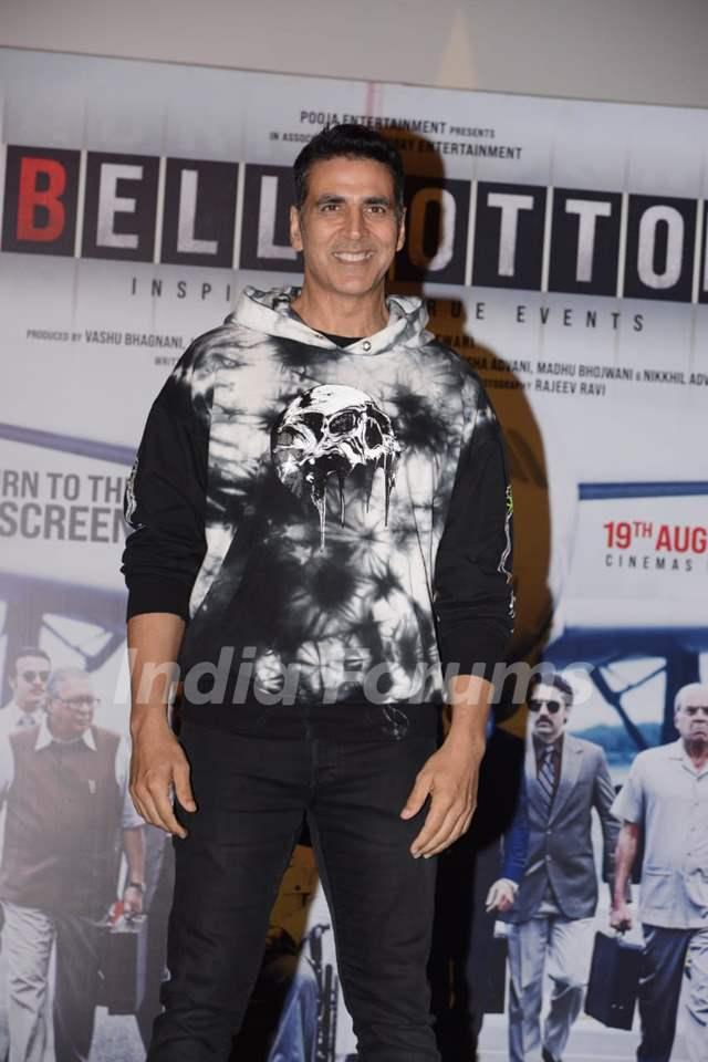 Akshay Kumar at Bell Bottom trailer launch in Delhi