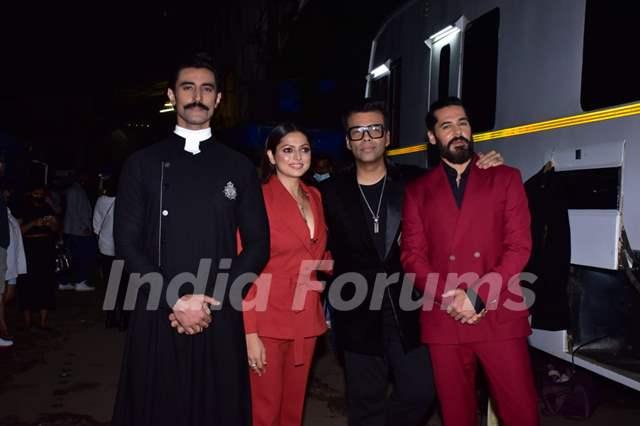 Kunal Kapoor, Drashti Dhami, Dino Morea, Karan Johar at the promotions of The Empire