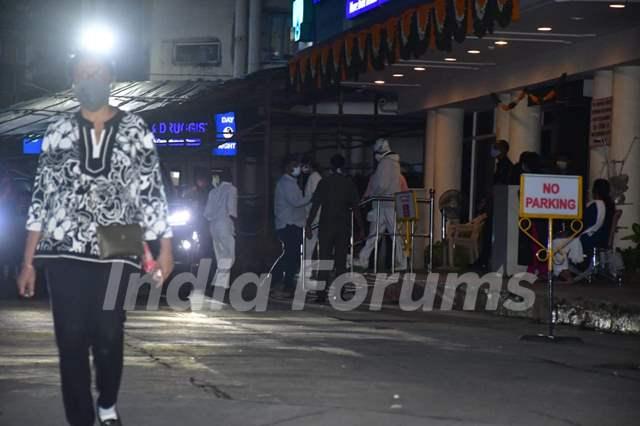 Amitabh Bachchan at Lilavati hospital in Mumbai