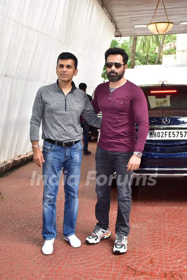 Emraan Hashmi and Anand Pandit at the promotions of 'Chehre'
