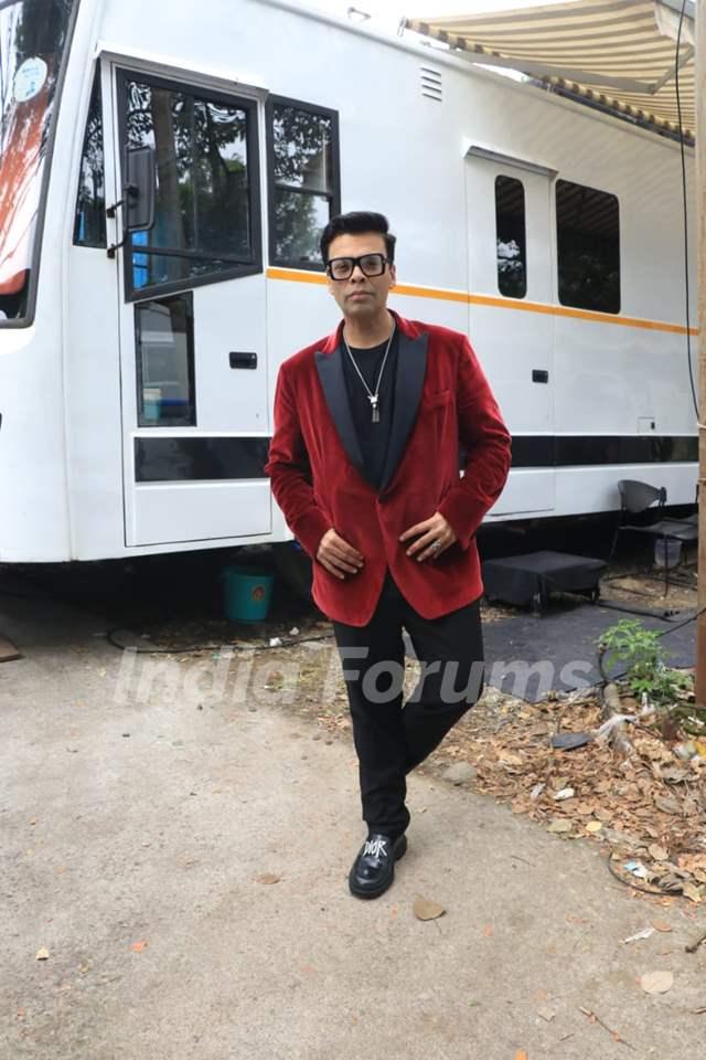 Karan Johar snapped at the sets of Big Boss OTT