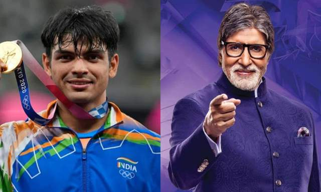 Neeraj Chopra in KBC 13