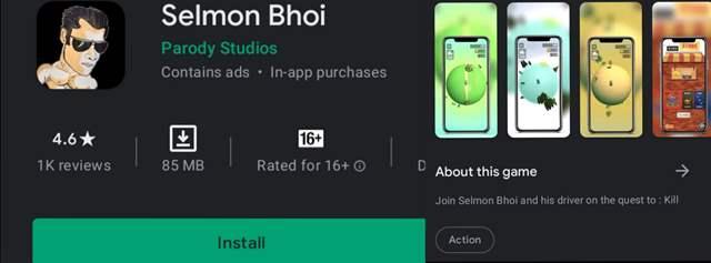 Selmon Bhai game on play store