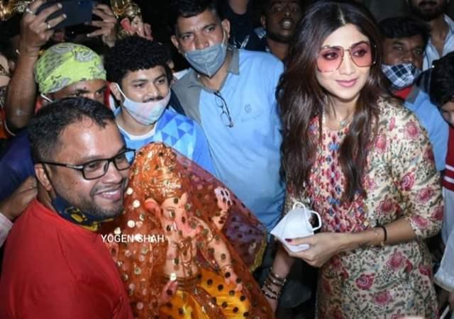 Shilpa Shetty at Lalbaug