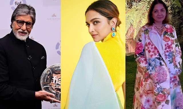 Amitabh Bachchan, Deepika Padukone and Neena Gupta