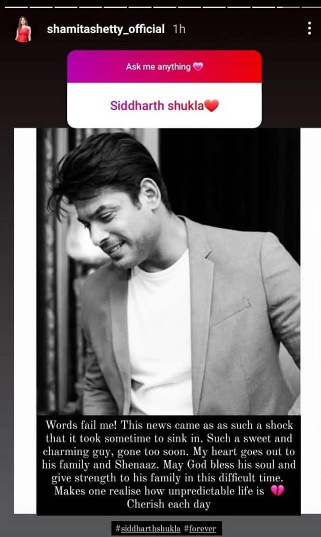 Shamita Shetty's Instagram Story