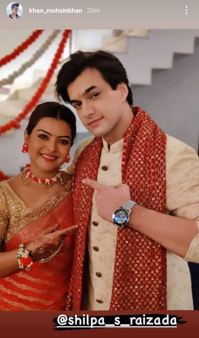 - Mohsin Khan with Shilpa Raizada
