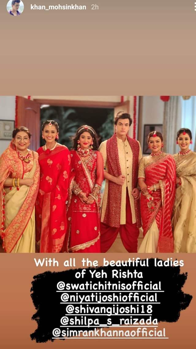 - Mohsin Khan with the ladies